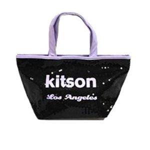 kitson(キットソン) シークインミニトート 3930 ブラック/ラベンダー