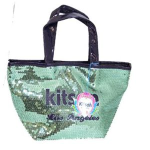 kitson(キットソン) シークインミニトート 3603 エメラルドグリーン/ブラック