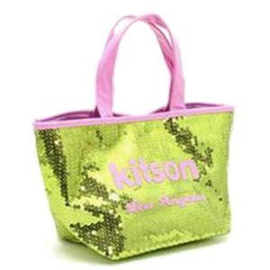 kitson(キットソン) シークインミニトート 3556 ゴールド/ピンク