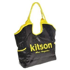 kitson(キットソン) シークイントート 3567 ブラック/ネオンイエロー