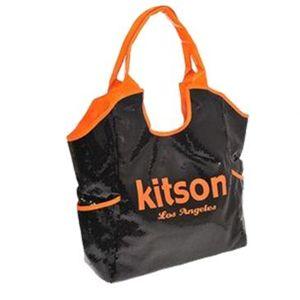 kitson(キットソン) シークイントート 3566 ブラック/ネオンオレンジ