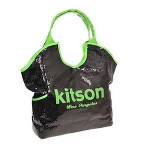 kitson(キットソン) シークイントート 3568 ブラック/ネオングリーン