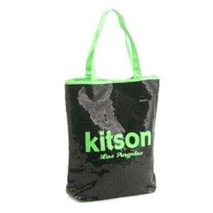 kitson(キットソン) シークインサマートート 3573 ブラック/ネオングリーン