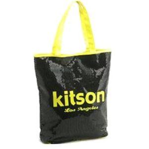 kitson(キットソン) シークインサマートート 3572 ブラック/ネオンイエロー