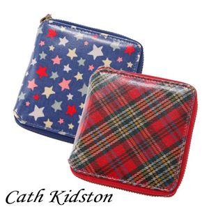 CATH KIDSTON(キャスキッドソン) ラウンド財布 SMALL ZIP WALLET Tartan Red