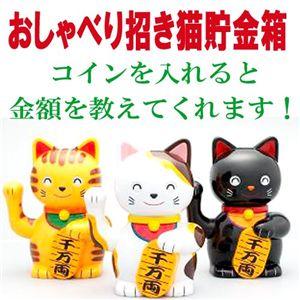 おしゃべり招き猫貯金箱 ニャンニャン・タマルン/クロ