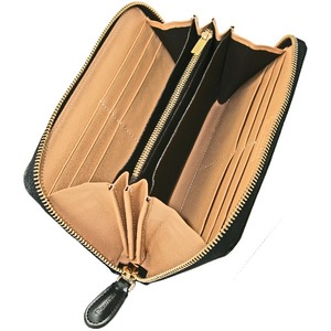 J.HARRISON クロコ型押しファスナー付ラウンド財布