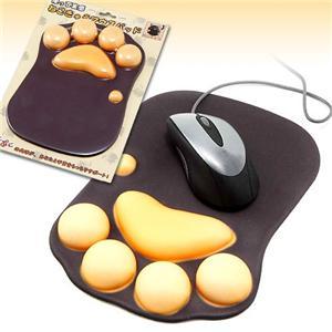 猫の肉球型 マウスパッド/OA用品 【20cm×27.3cm×2.3cm】 重さ340g 光学式 ボールマウス対応 『ねこきゅう マウスパッド』
