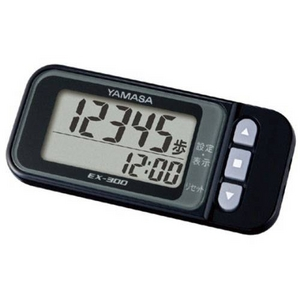 YAMASA(ヤマサ) ポケット・バッグインタイプ万歩計「らくらく万歩」 EX-300 ブラック - 拡大画像