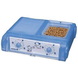 ペット用品 自動給餌機(餌やり器)わんにゃんぐるめ CD-400 クリアブルー - 拡大画像