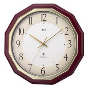 MAG 蓮華 木枠電波掛け時計 W-441BR