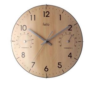 Felio クリュッグ 温・湿度計付き掛け時計 FEW131N - 拡大画像