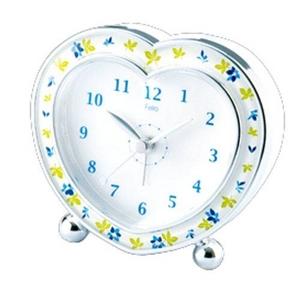Felio ハート スタンダード置き時計 FEA69PW 3個セット - 拡大画像