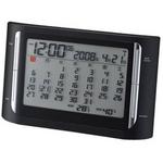 Felio(フェリオ) フレミング 月間カレンダーデジタル表示電波置き時計 FEA128BK