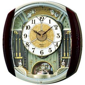 セイコークロック 電波からくり掛け時計 RE564H - 拡大画像