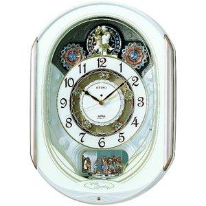 セイコークロック 電波からくり掛け時計 RE565H - 拡大画像