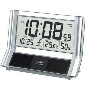 SEIKO CLOCK(セイコークロック) デジタル表示 ソーラー電波置き時計 SQ690S - 拡大画像