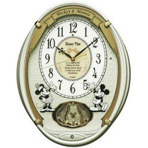 SEIKO CLOCK(セイコークロック) ミッキー&フレンズ 飾り振り子掛け時計 FW567W - 拡大画像