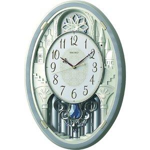 セイコークロック ウエーブシンフォニー 電波掛け時計 AM256S - 拡大画像