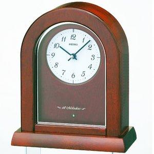 セイコークロック メロディ機能付 電波置時計 BZ357B - 拡大画像