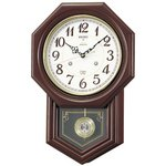 セイコークロック チャイム&ストライク 電波壁掛け時計 RQ205B