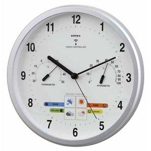 エンペックス ウエザーパル電波時計(1台4役) アナログ 壁掛け BW-878 - 拡大画像