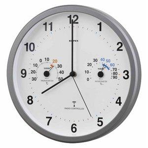 エンペックス トキメクス電波時計(温度計・湿度計付き) アナログ 壁掛け TQ-871 - 拡大画像