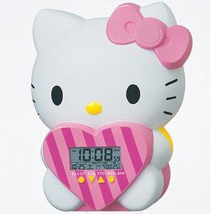 SEIKO CLOCK(セイコークロック) ハローキティ 目覚まし時計 JF375A - 拡大画像