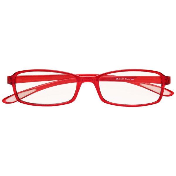 スイートアイ PC眼鏡 クリアレンズ AR-SE01 RUBY ルビー 赤f00