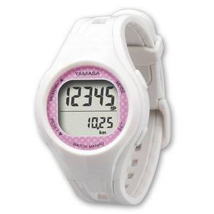 YAMASA(山佐時計計器)  ウォッチ万歩計 TM-400 ホワイト/ピンク - 拡大画像