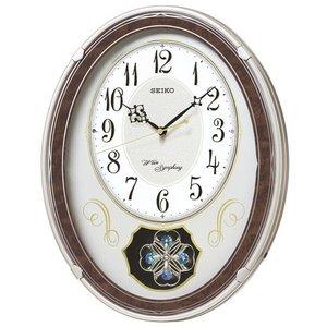 セイコークロック メロディー電波壁掛け時計 AM259B - 拡大画像