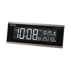 SEIKO CLOCK(セイコークロック) 交流式電波デジタル目覚まし時計 DL206S - 拡大画像