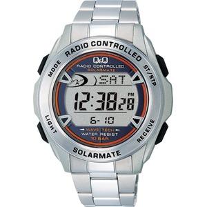 CITIZEN WATCH(シチズン時計) Q&Q ソーラー電源機能搭載 デジタル電波時計 MHS7-200