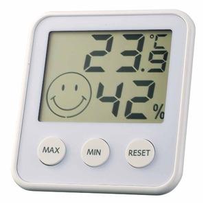 EMPEX(エンペックス) デジタルmidi 温度・湿度計 TD-8311 シルキーホワイト - 拡大画像