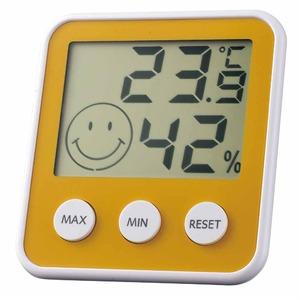 EMPEX(エンペックス) デジタルmidi 温度・湿度計 TD-8314 パールイエロー
