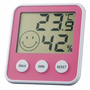 EMPEX(エンペックス) デジタルmidi 温度・湿度計 TD-8315 チェリーピンク