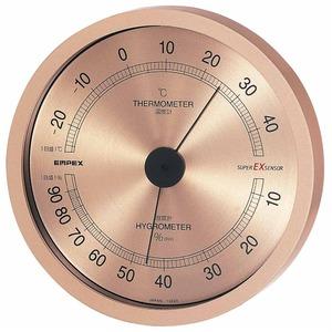 EMPEX(エンペックス) スーパーEX高品質温・湿度計 EX-2728 シャンパンゴールド