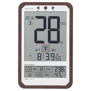 ADESSO(アデッソ) デジタル日めくり電波時計 C-8414画像2