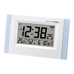 ノア精密 MAG(マグ) 環境表示機能付きデジタル電波置掛兼用時計 W-660LBU/エアサーチ ブリックス画像1