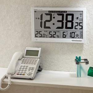 ノア精密 MAG(マグ) 環境表示機能付きデジタル電波置き時計 W-602WH/エアサーチメルスター画像2