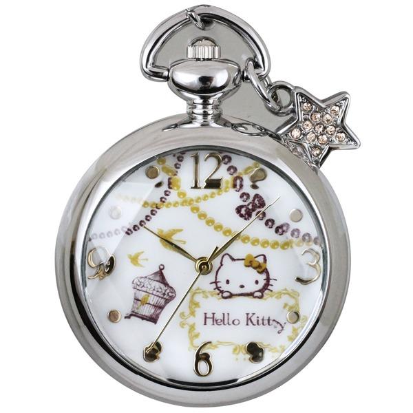 CREPHA(クレファー) メイドインジャパンハローキティ懐中時計 HKY-1442-SVAf00