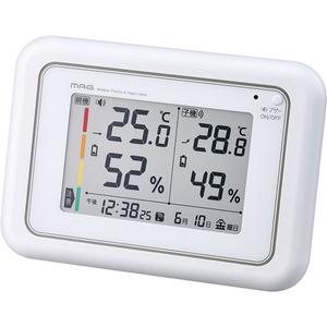 MAG(マグ) 電波時計付ワイヤレス温湿度計 ホワイト W-687WH