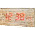 【送料無料】MAG(マグ) 交流式デジタル時計 木目仕上 W-680N/タイムルーチェの画像
