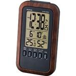 MAG(マグ) 温湿度表示機能付きデジタル電波時計 ブラウン木目仕上 T-717BR-Z/メテオーラの画像