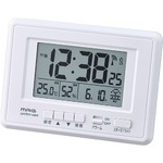 MAG(マグ) 温湿度表示機能付きデジタル電波時計 ホワイト T-693WH-Z/ケプラーの画像