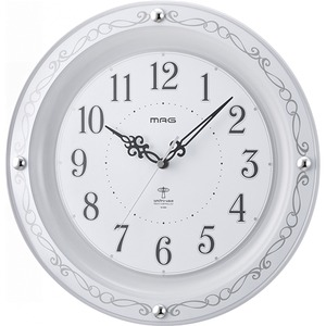 MAG(マグ) アナログ電波掛時計 ホワイト W-664WH/セルマン