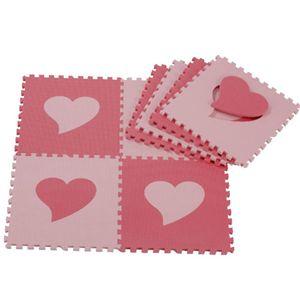 ラブラブマット 24枚組 ハート(ピンク)