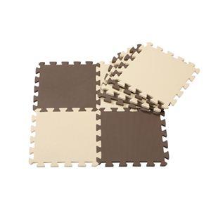 JOINT MAT SERIES(ジョイントマットシリーズ) カラーマット8枚組 チョコレート - 拡大画像