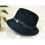 OBIJIME(帯締め) コットン帽子 ネイビー
