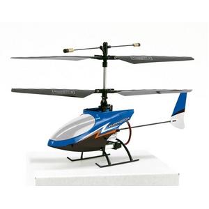 手のひらサイズのミニヘリコプター FLYINGSTAR4 フライングスター4 青(原則室内専用) - 拡大画像